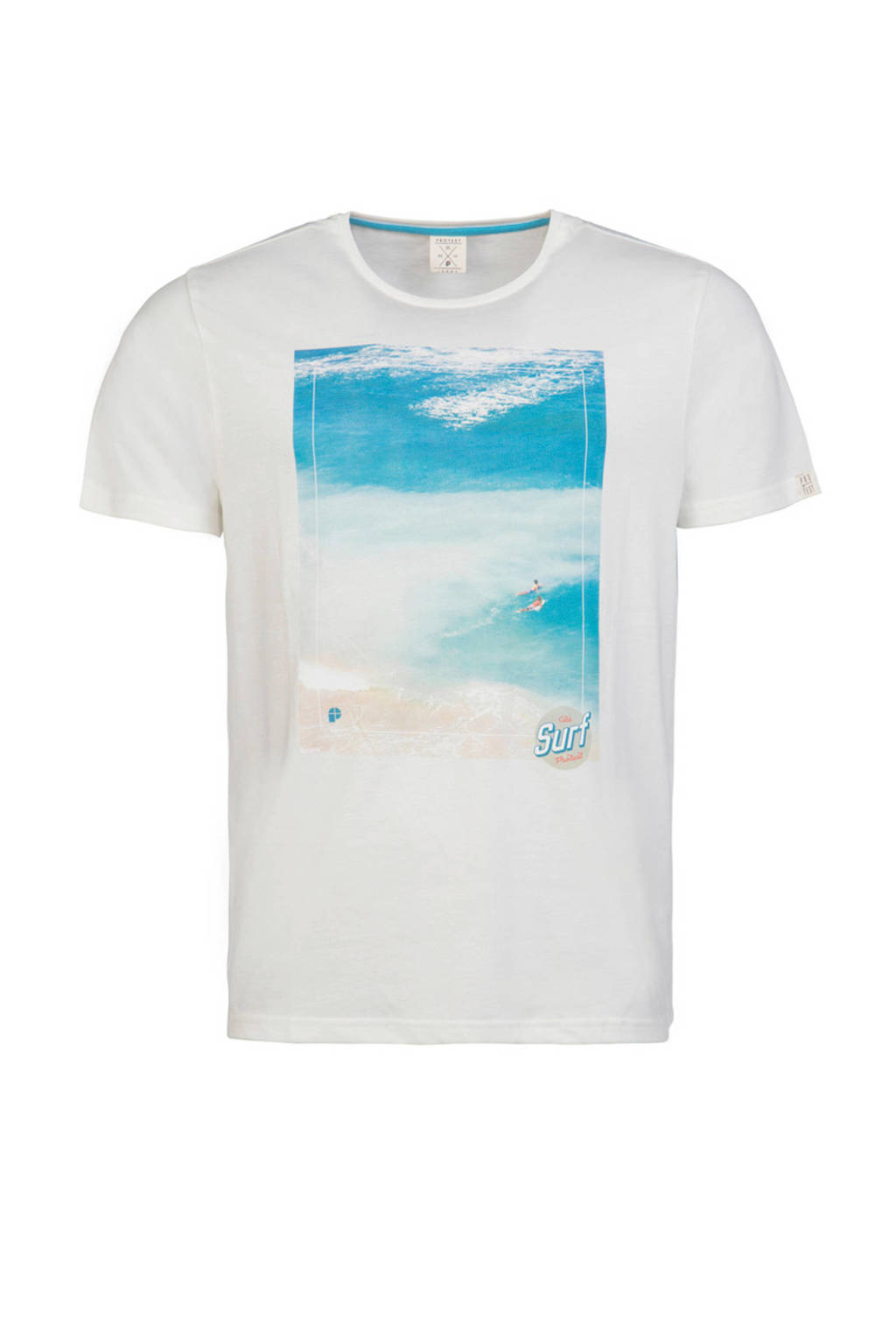 Protest T-shirt, Wit/blauw