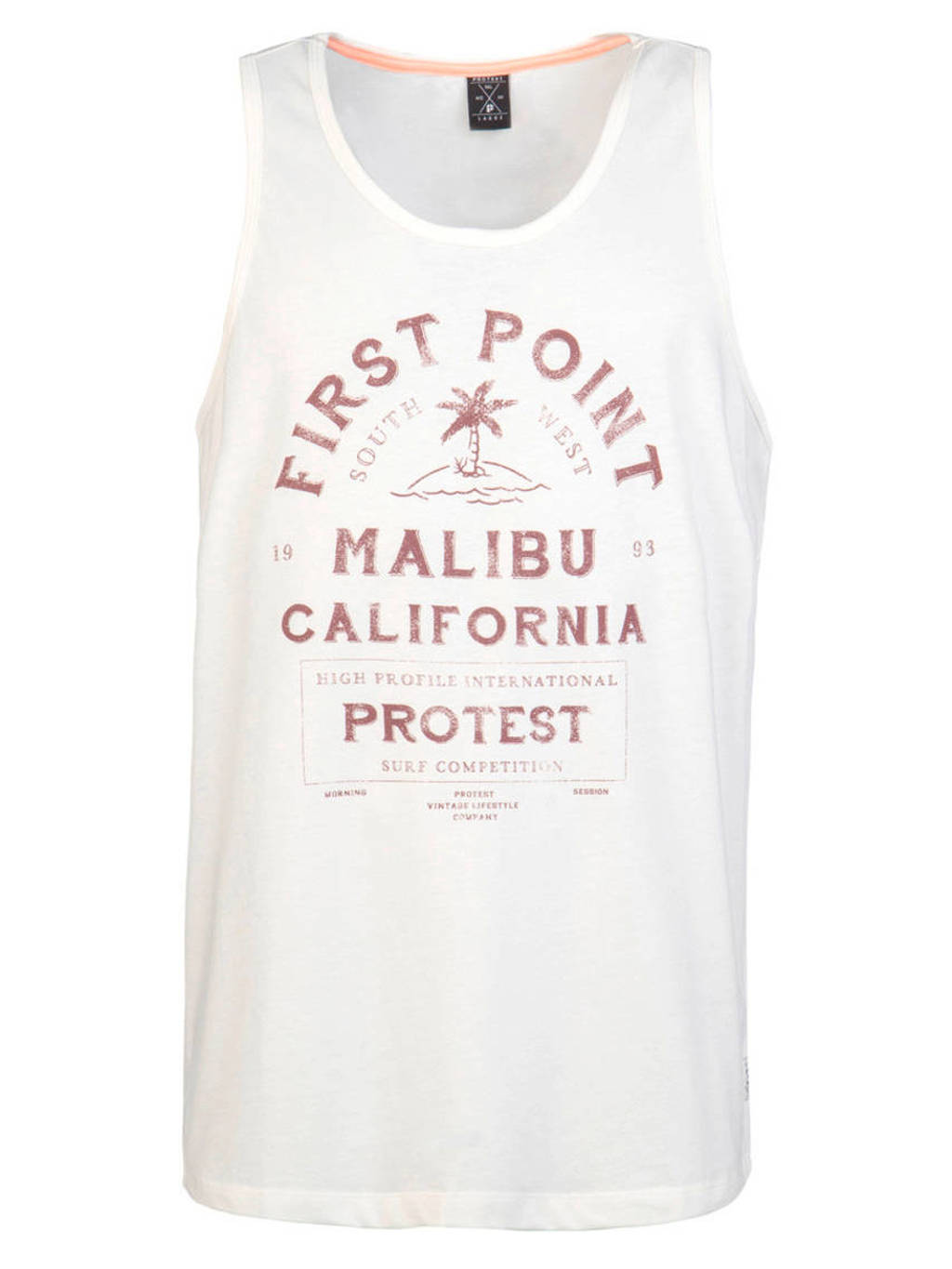 Protest singlet, Wit/rood