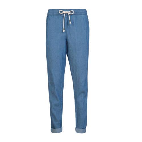 Protest straight fit broek Nikka blauw