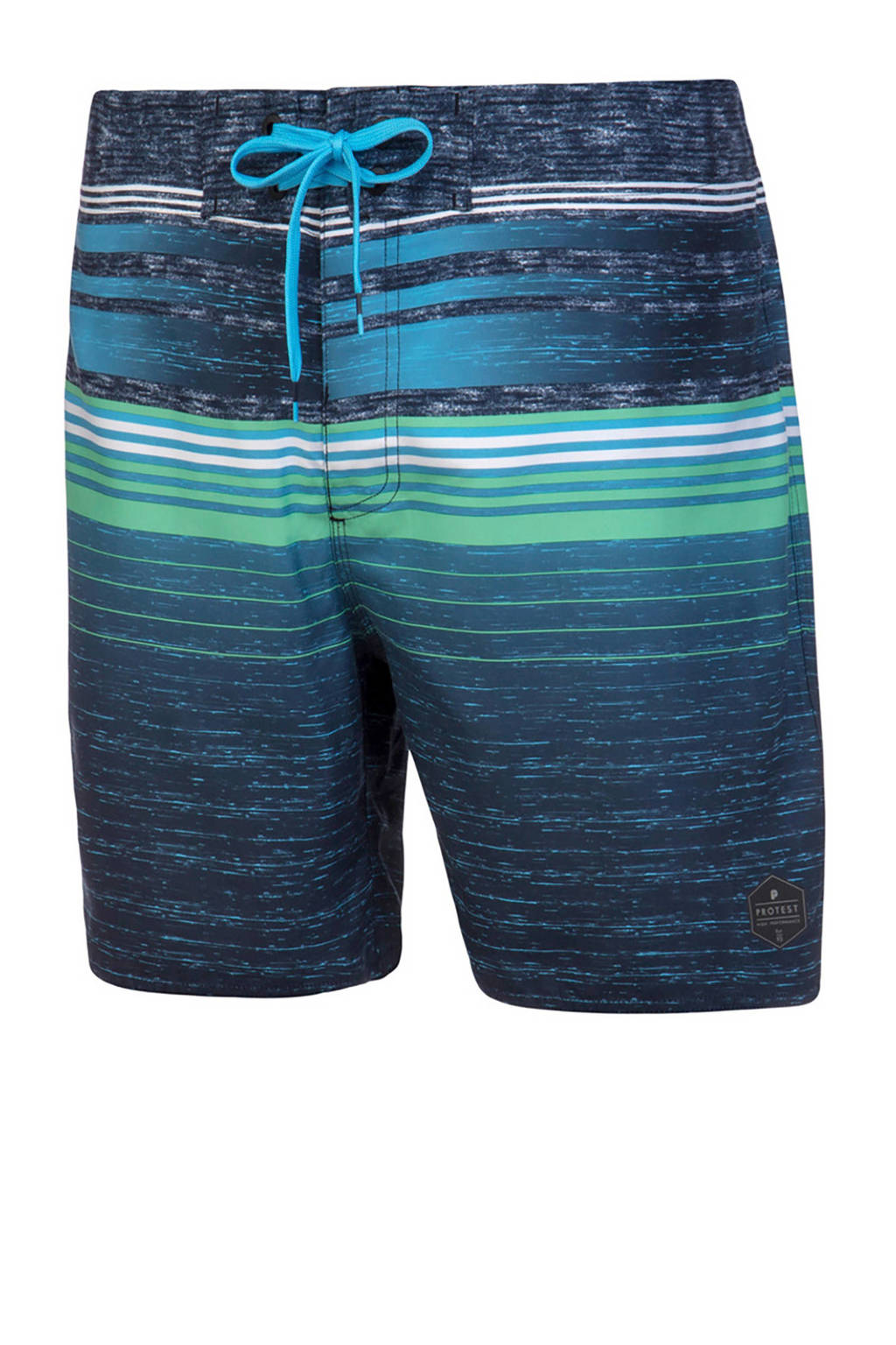 a15bab42f36cdf Protest boardshort Powell met all over print blauw, Blauw/wit/groen