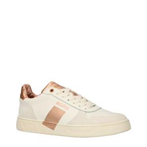T1020 LOW  leren sneakers wit/roségoud