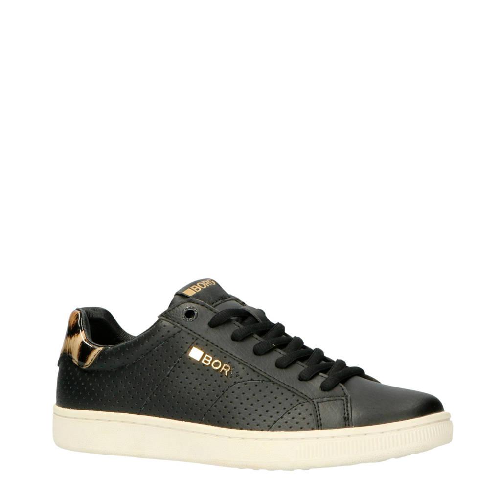 Björn Borg   T306 LOW LEO PRF W sneakers zwart/panterprint, Zwart/bruin