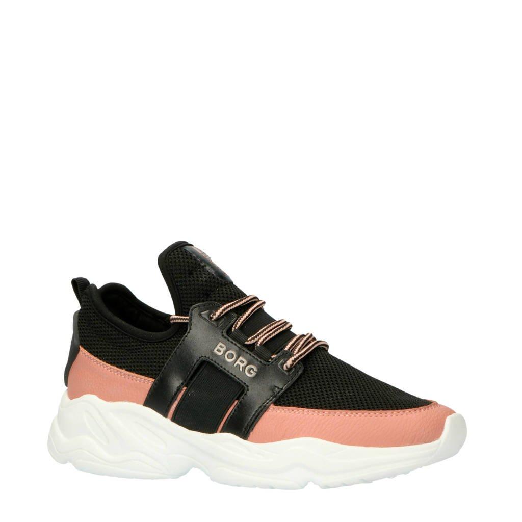 Björn Borg  X300 LOW BLK W sneakers zwart, Zwart/roze