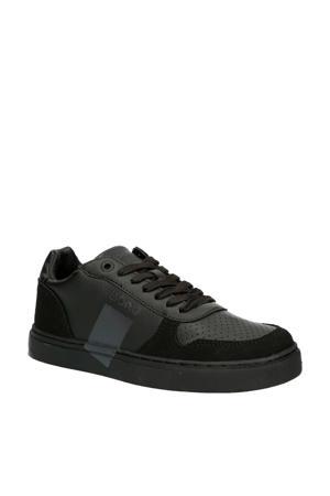 T1020 LOW LEA T leren sneakers zwart