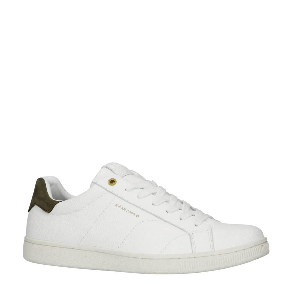 Björn Borg  T305 LOW TMP M sneakers wit/olijfgroen