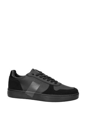 T1020 LOW LEA M  leren sneakers zwart
