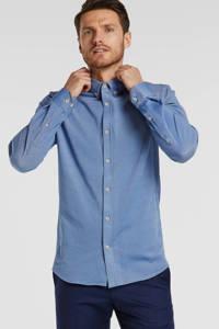 Vanguard slim fit overhemd blauw, Blauw