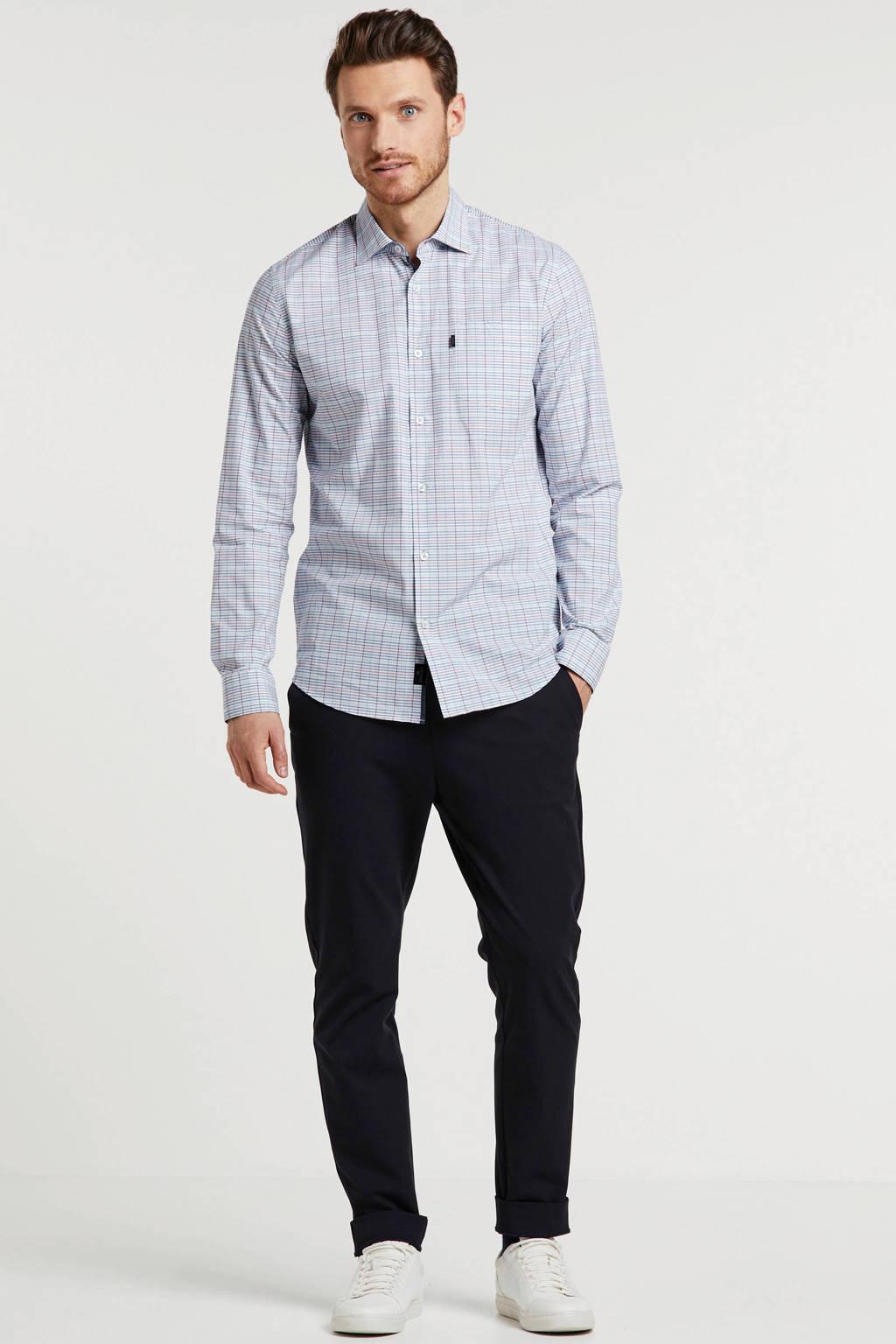 Vanguard regular fit overhemd met all over print wit/blauw/roze, Wit/blauw/roze