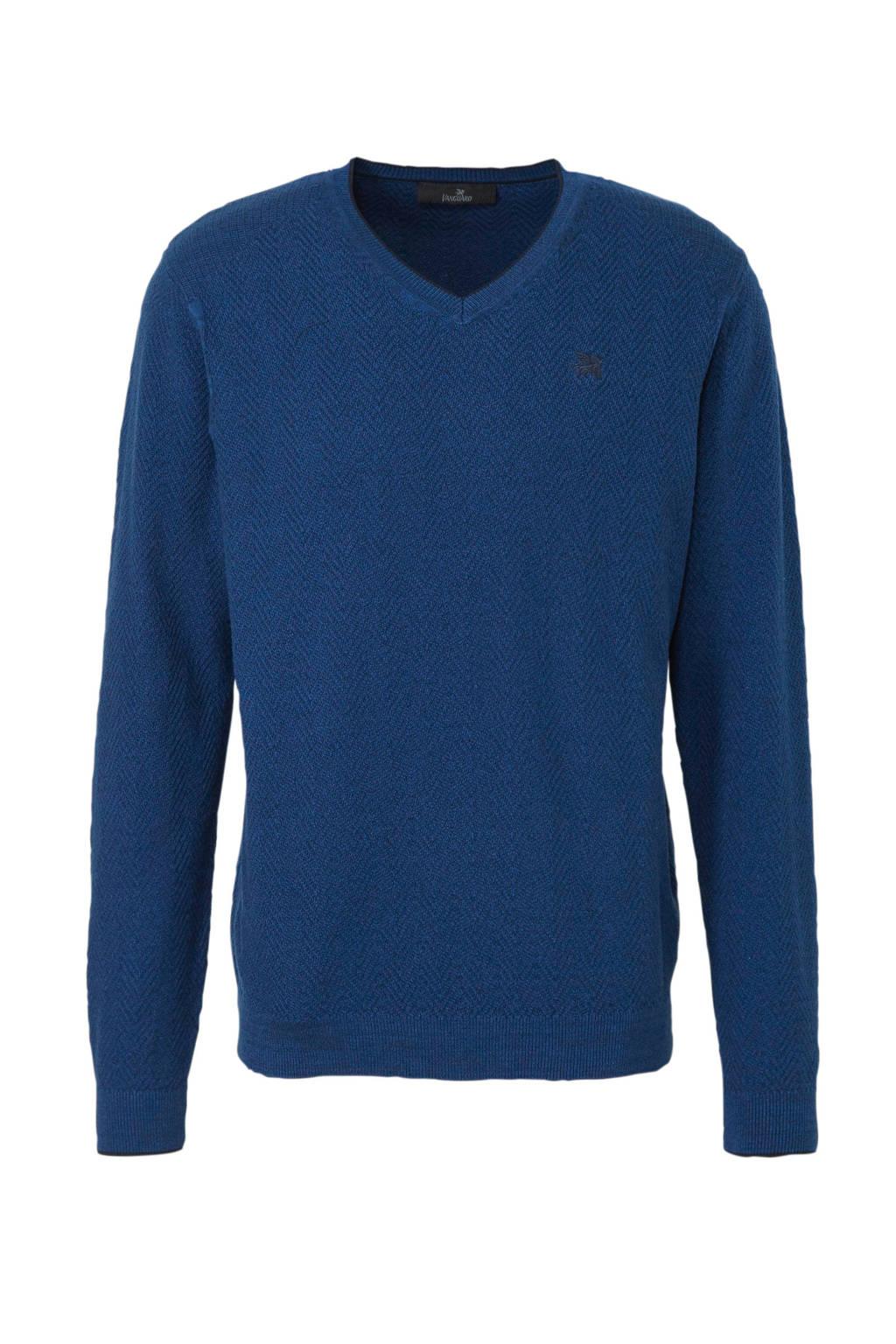 Vanguard fijngebreide trui donkerblauw, Donkerblauw