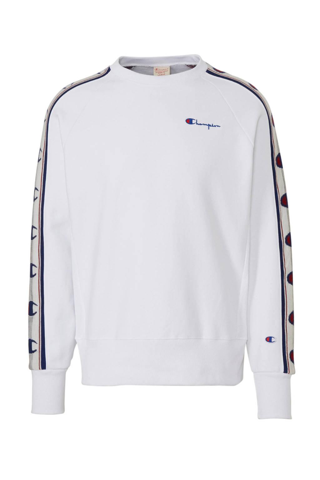 Champion sweater met logo wit, Wit