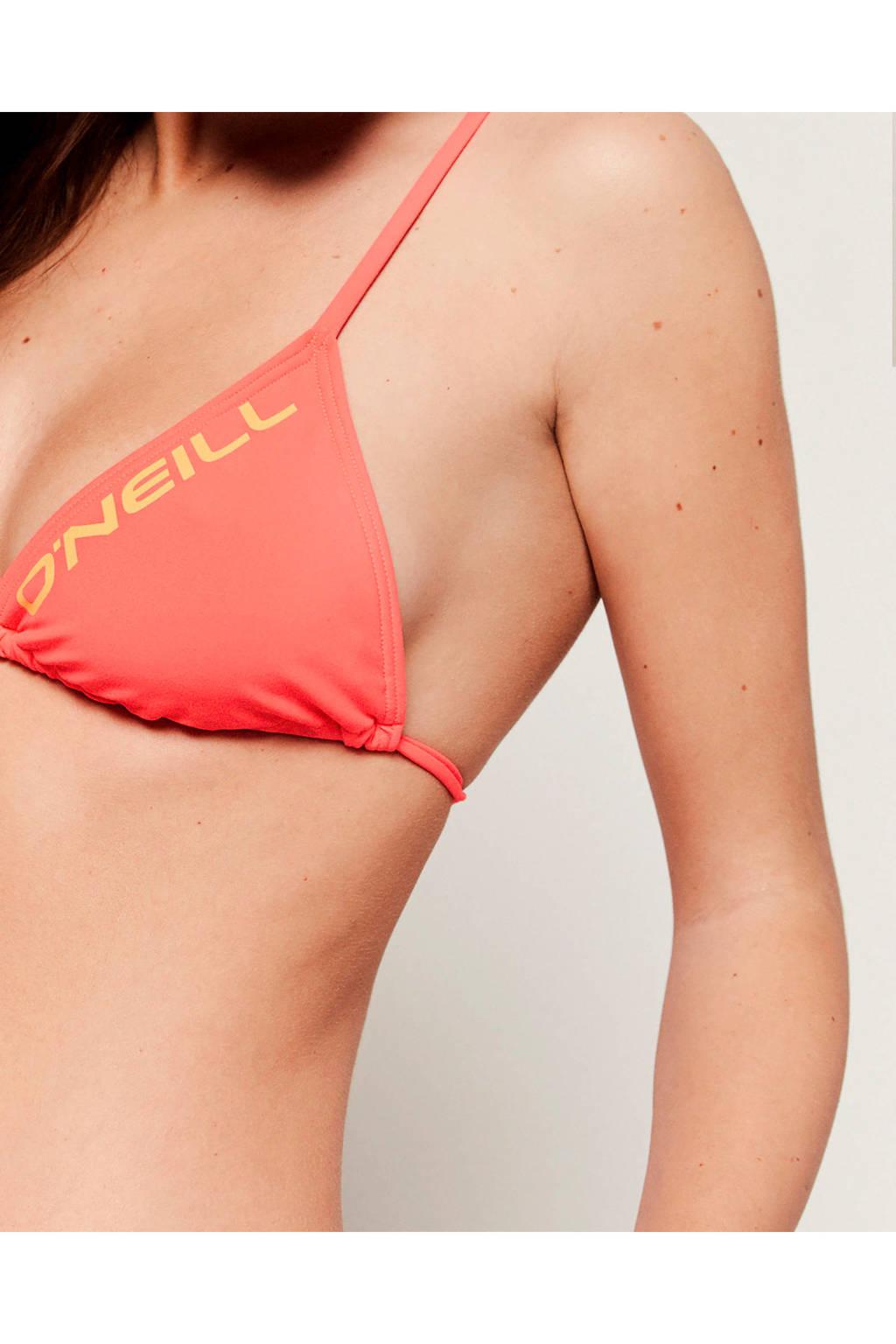 O'Neill triangel bikinitop Capri Re-Issue tweekleurig roze, Roze/oranje
