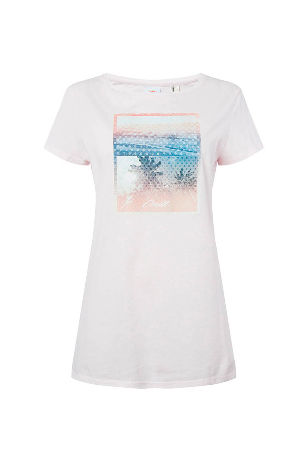 O'Neill T-shirt met printopdruk lichtroze, Lichtroze
