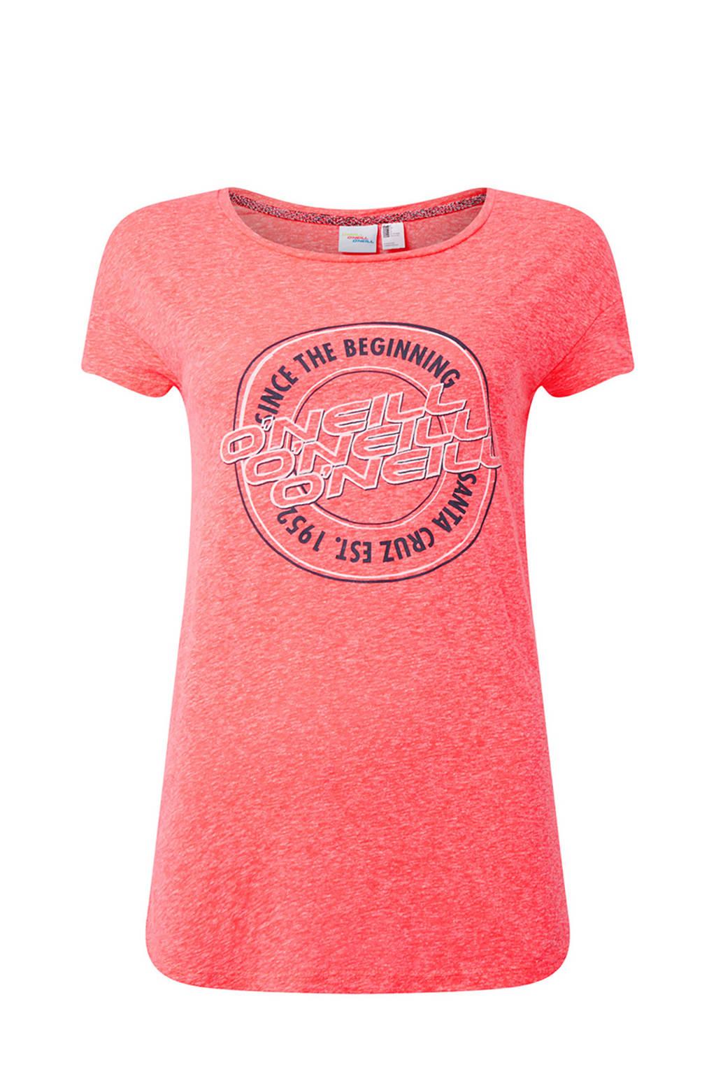 O'Neill T-shirt met tekst knockout pink, Knockout Pink