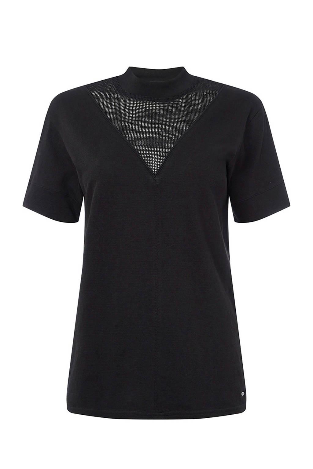 O'Neill T-shirt met mesh zwart, Zwart