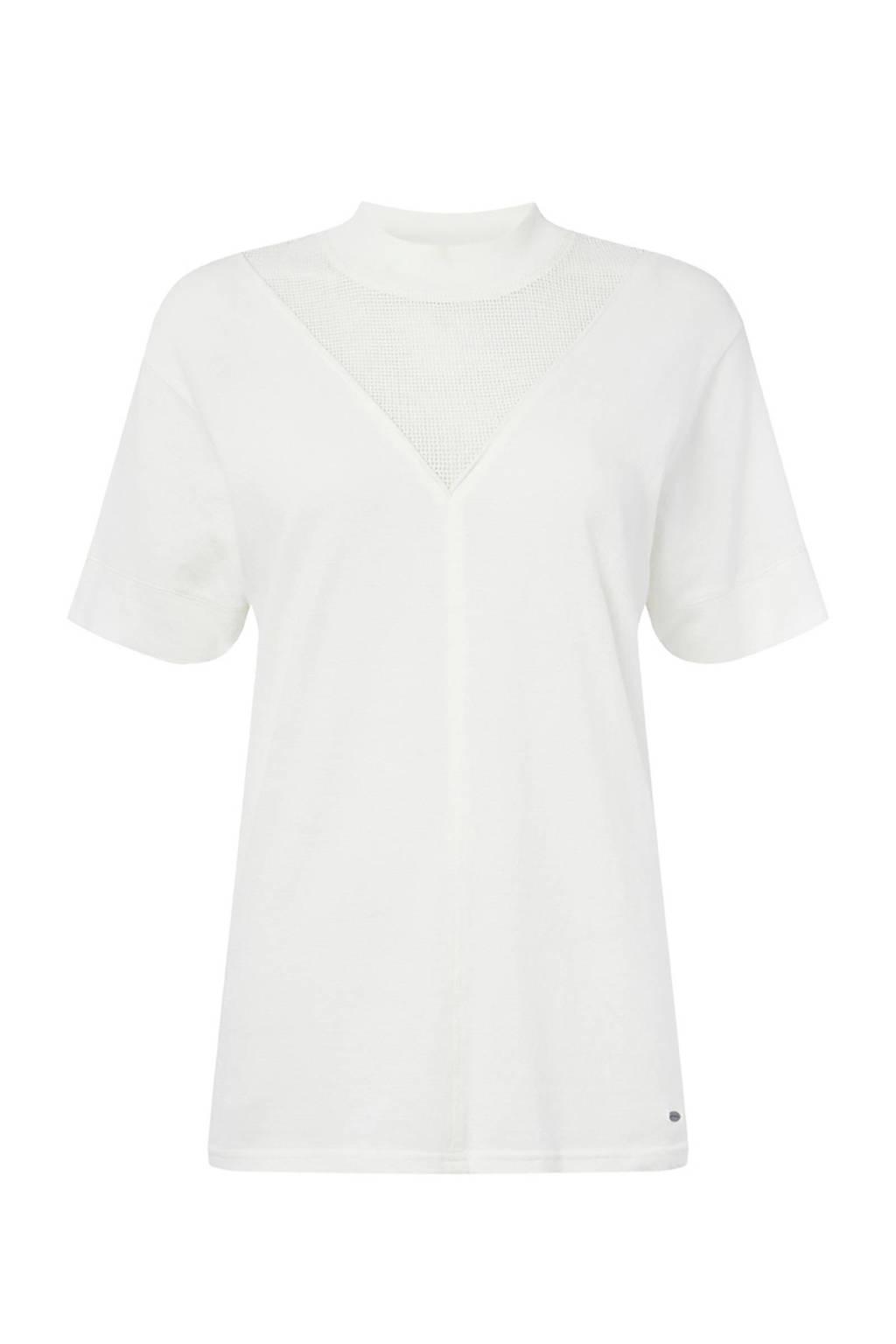 O'Neill T-shirt met mesh ecru, Ecru