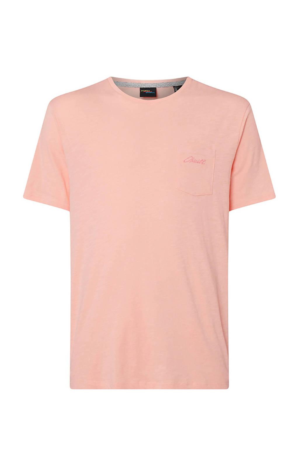 WE Fashion gemêleerd T-shirt van biologisch katoen roze, Roze