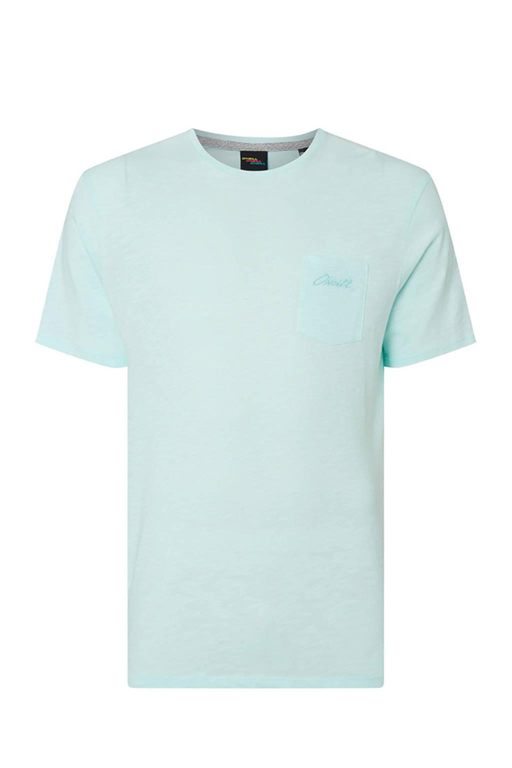O'Neill gemêleerd T-shirt van biologisch katoen lichtblauw, Lichtblauw