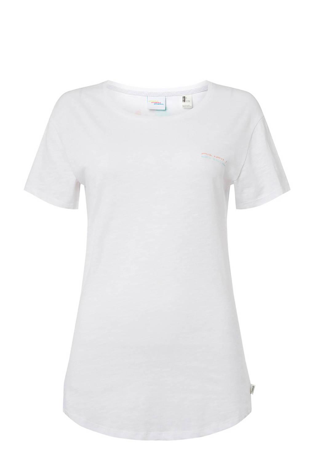 O'Neill T-shirt met printopdruk wit, Wit