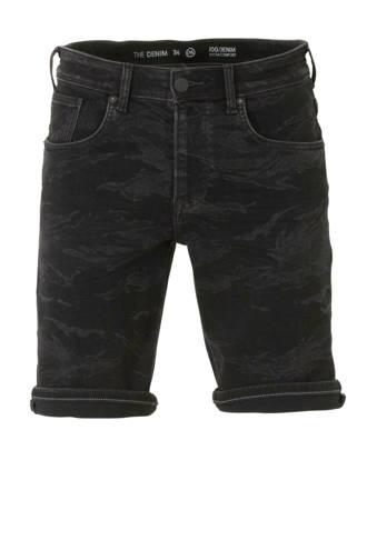 The Denim regular fit jeans short zwart