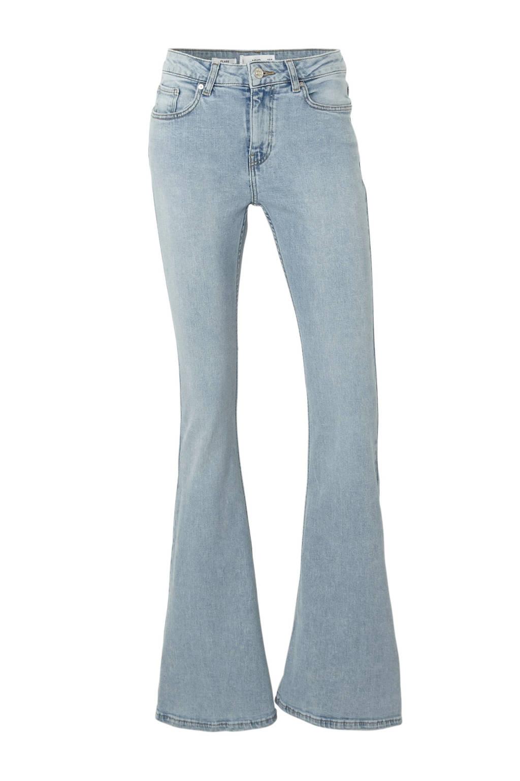 Mango high waist flared jeans, Light denim