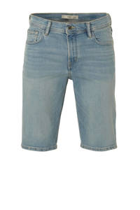 Mango Man regular fit jeans short changeant blauw