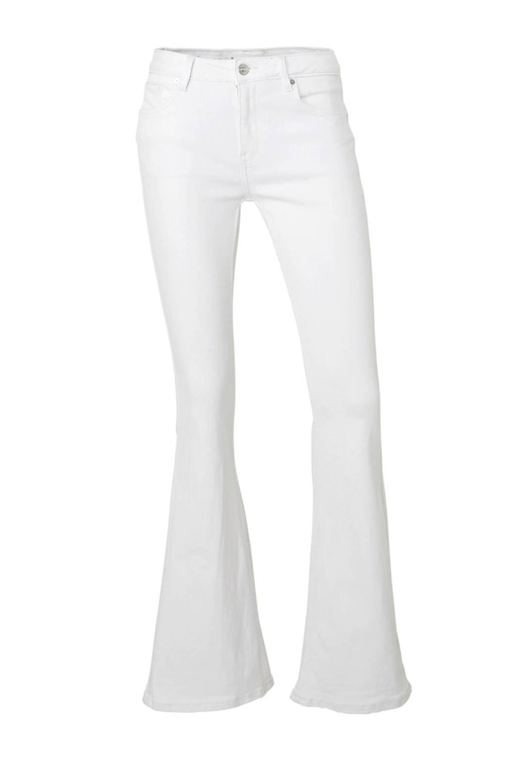 Mango high waist flared jeans, Wit