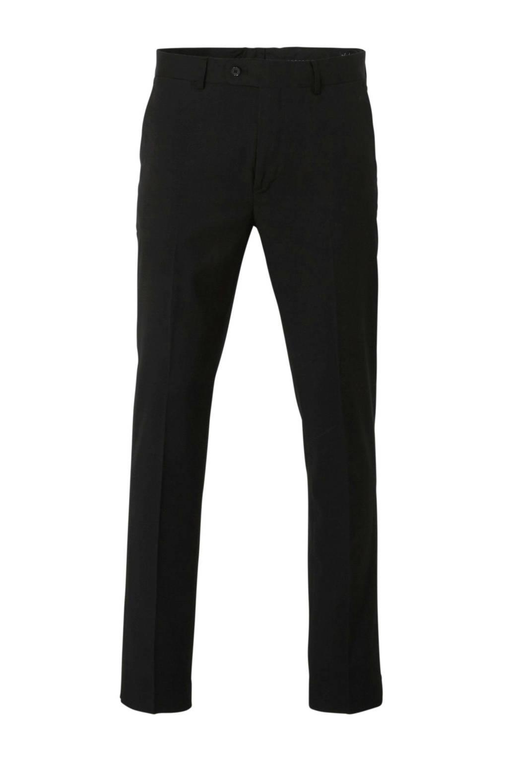 Mango Man slim fit pantalon zwart, Zwart