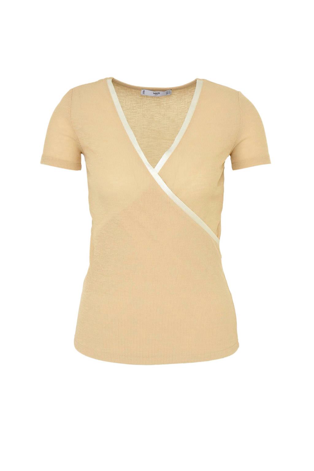 Mango T-shirt beige, Beige