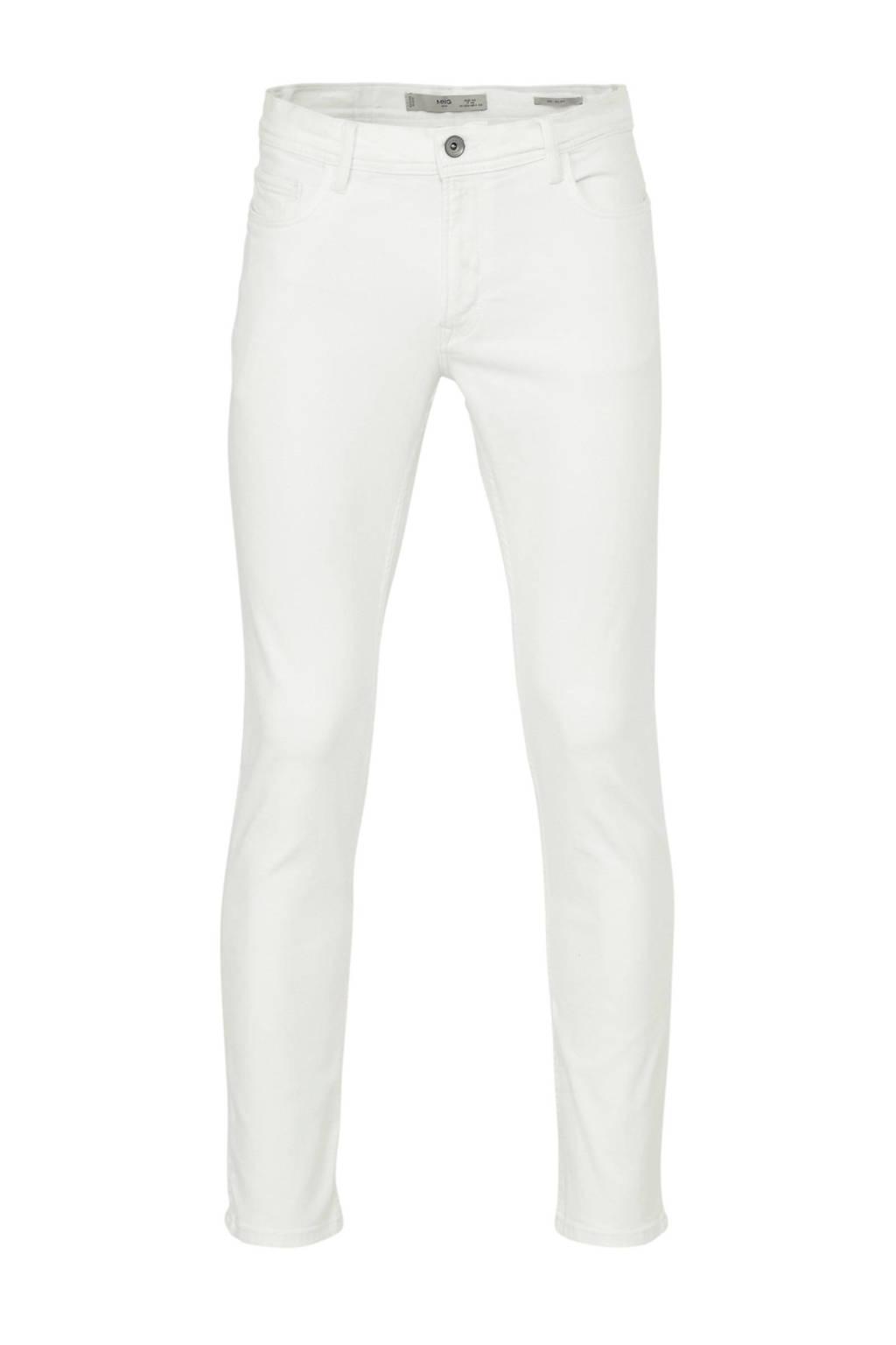 Mango Man slim fit jeans Jan wit, Wit