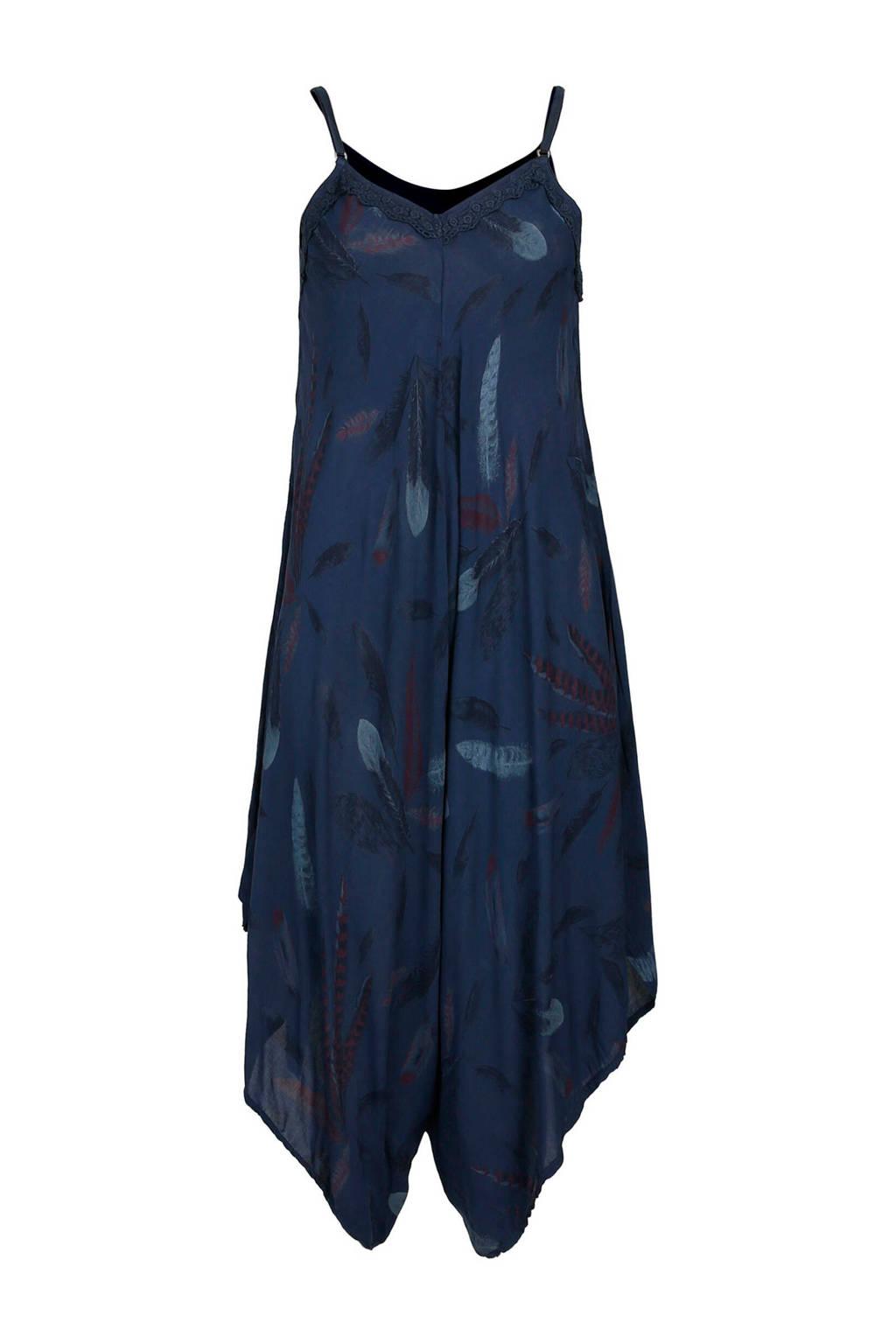 Cassis jumpsuit met all over print marineblauw, Marineblauw