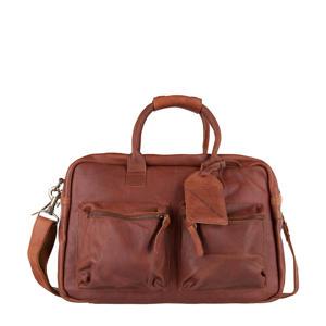 15.6 inch leren tas The College Bag cognac