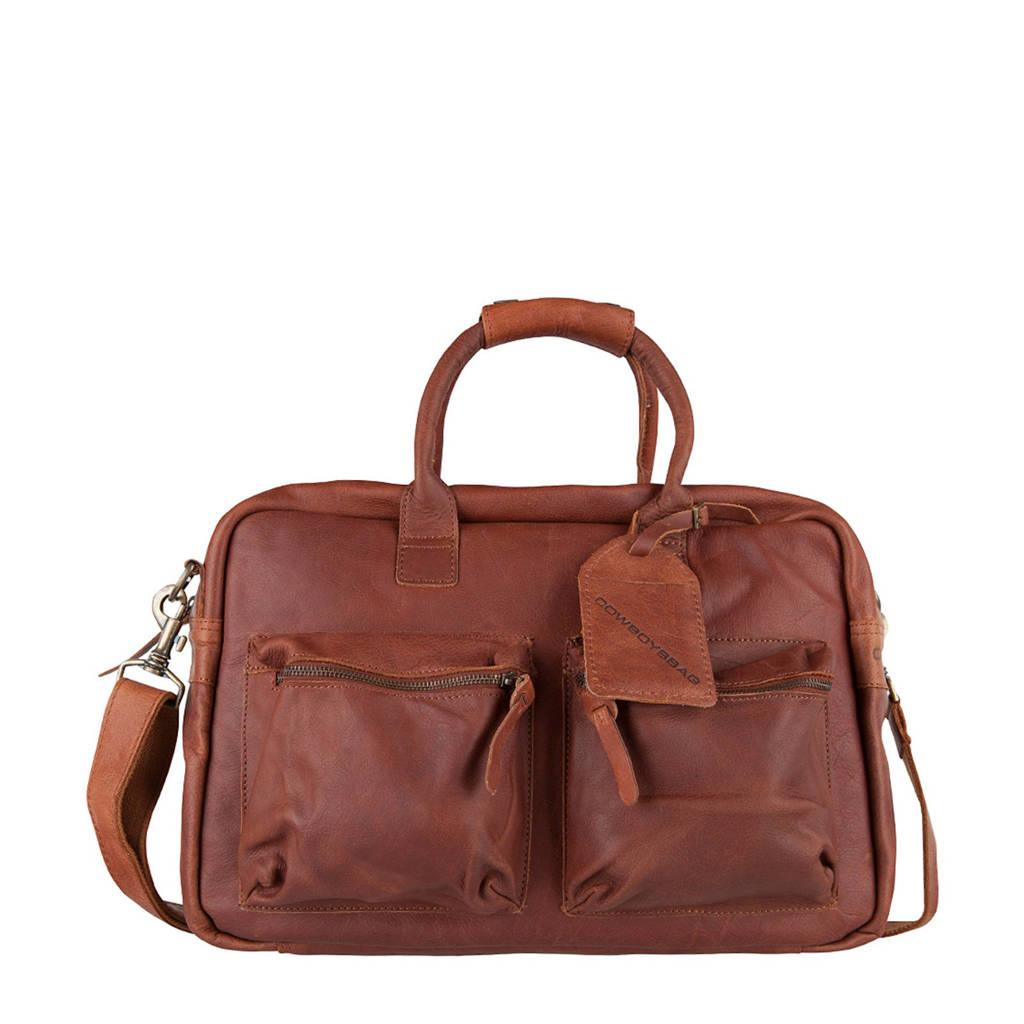 Cowboysbag 1380 15.6 The College Bag leren tas, Cognac