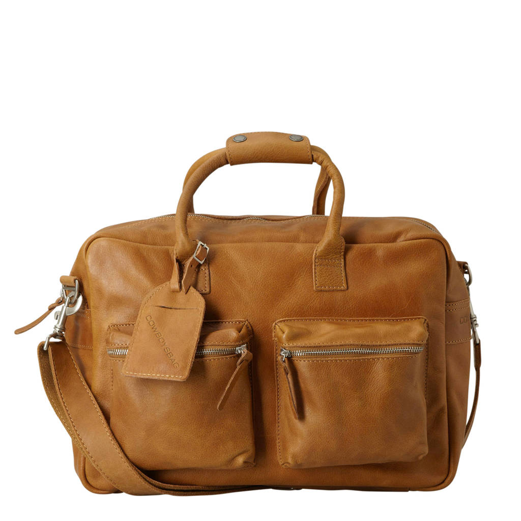 Cowboysbag  15,6 inch leren tas The College Bag tabacco, Tabacco