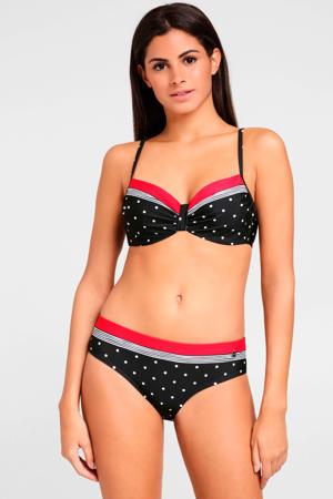 beugel bikinitop met all over print zwart