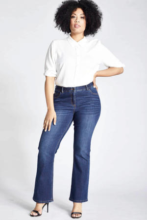 bootcut jeans Marie donkerblauw