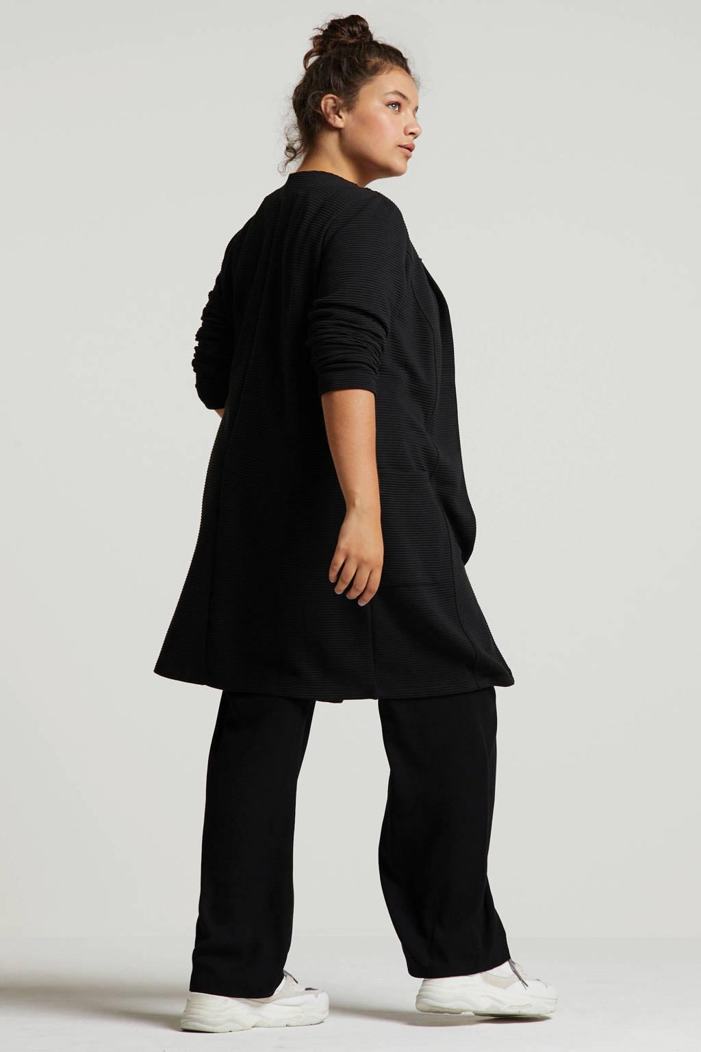 Ulla Popken vest zwart, Zwart