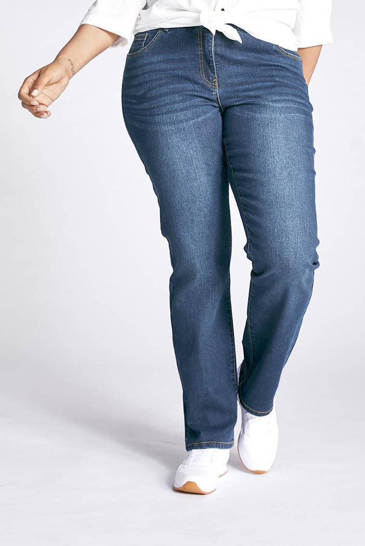 Ulla Popken straight fit jeans Mandy dark denim, Dark denim
