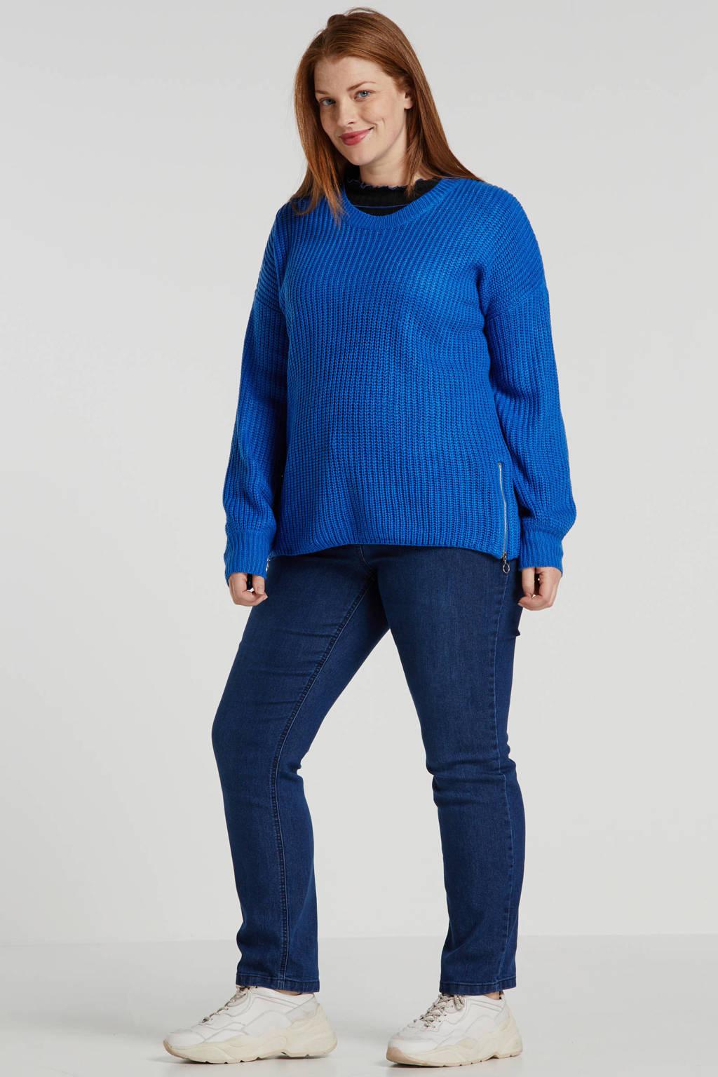 Ulla Popken jeans short Sammy dark denim, Dark denim