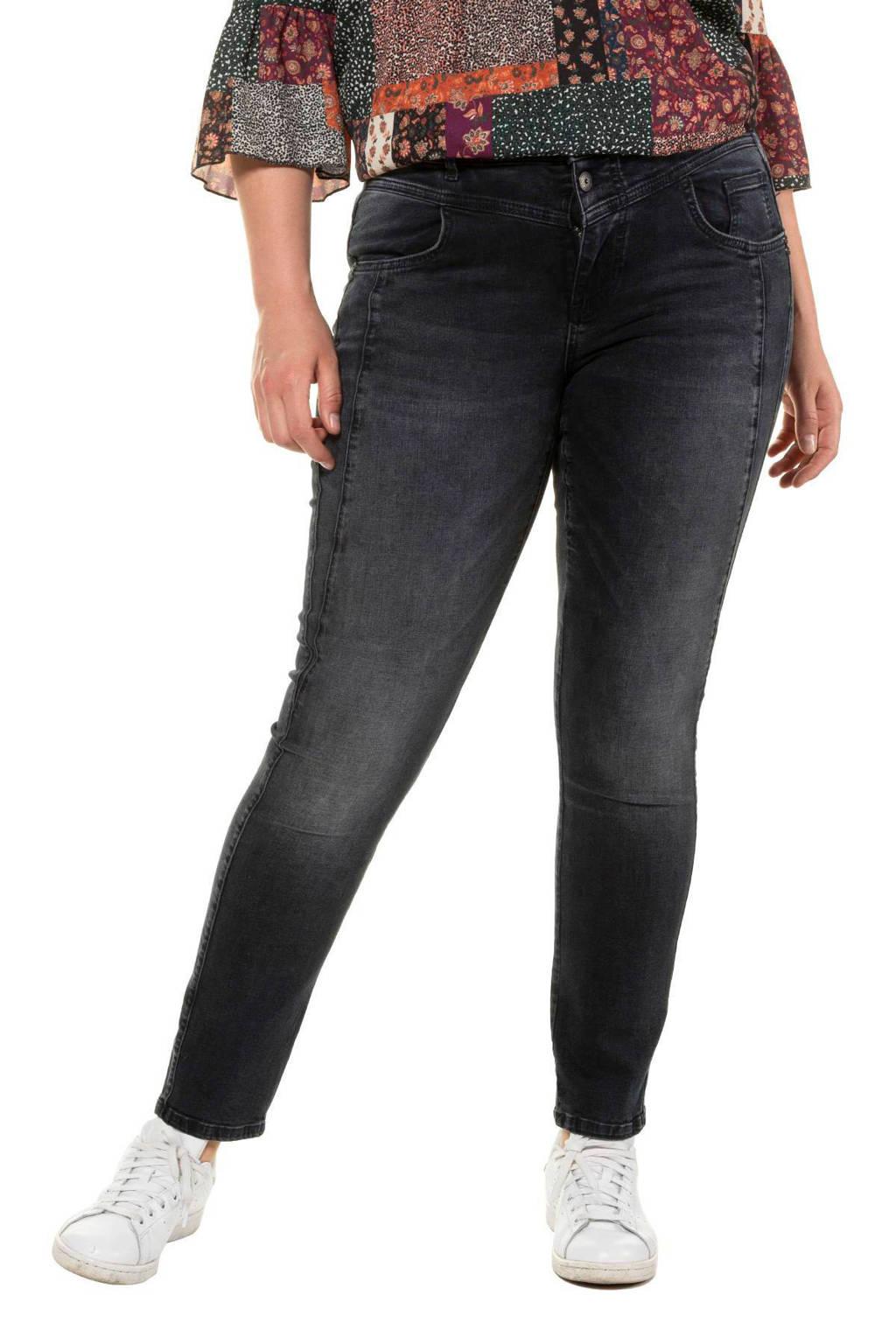 Ulla Popken straight fit jeans dark denim, Dark denim