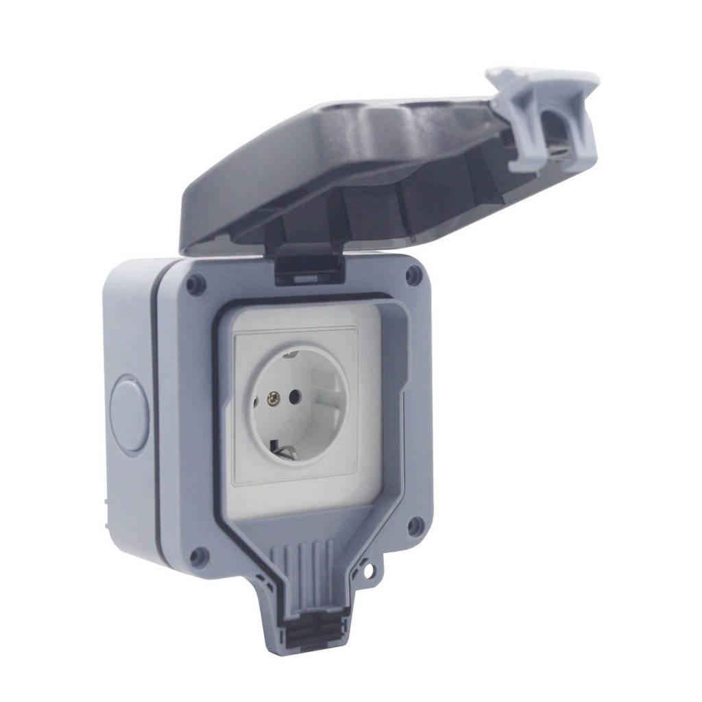 WOOX  Woox stopcontact EU Smart Outdoor R4052, Wit