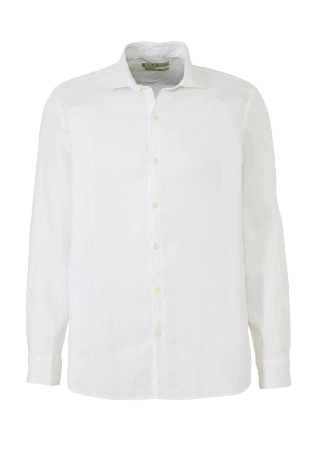 Overhemd Wit Slim Fit.Mango Man Linnen Slim Fit Overhemd Wit Wehkamp