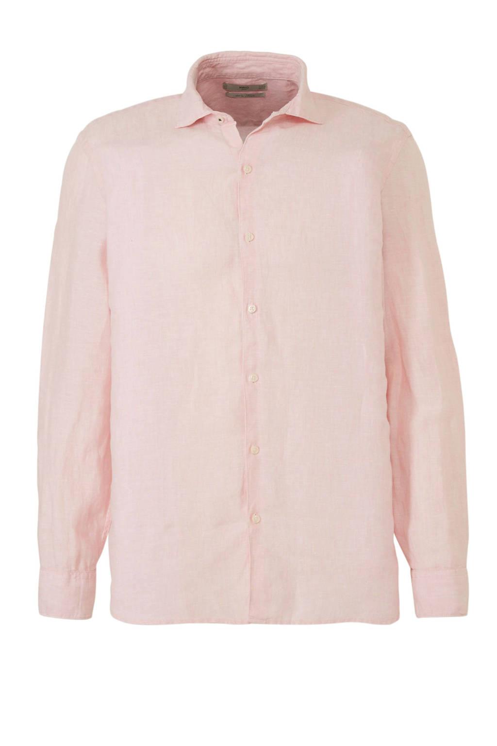 Roze Overhemd.Mango Man Linnen Slim Fit Overhemd Roze Wehkamp