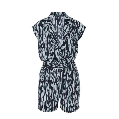 Mango playsuit met all over print marine-mintgroen