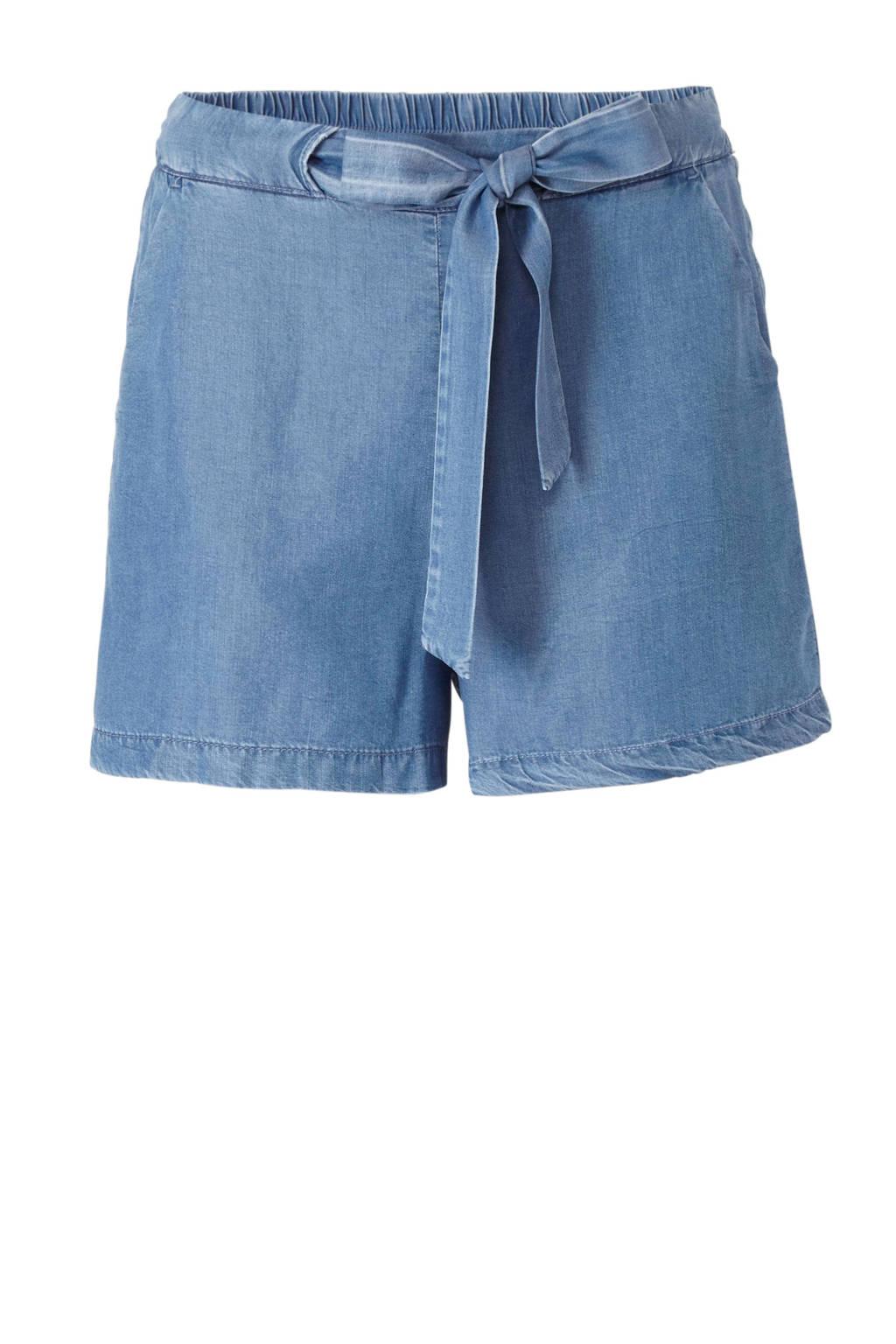 Mango high waist loose fit jeans short, Light denim