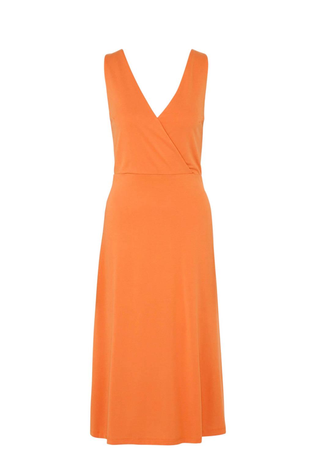 Mango jurk met overslag oranje, Oranje