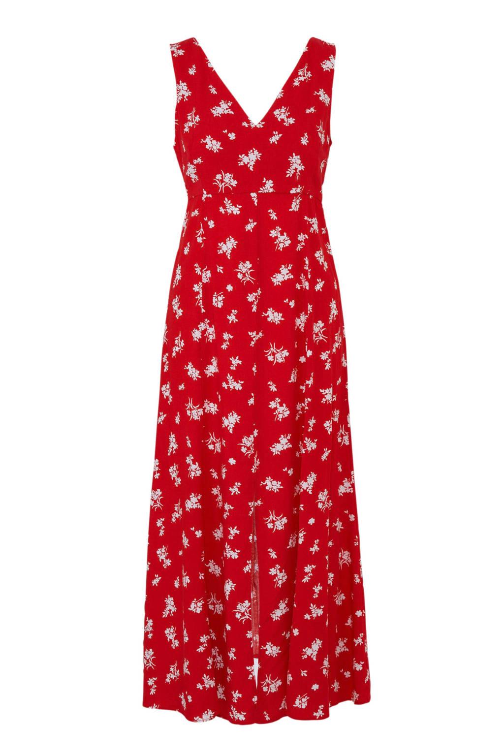 Mango maxi jurk met bloemen, Rood
