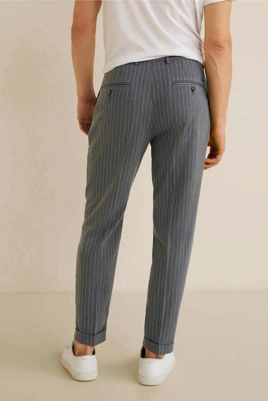 Mango Man regular fit pantalon donkergrijs, Grijs
