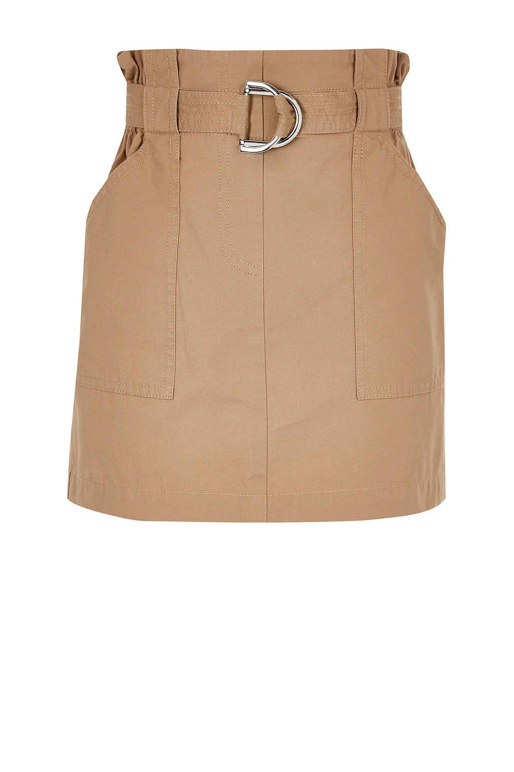 River Island paperbag rok beige, Beige