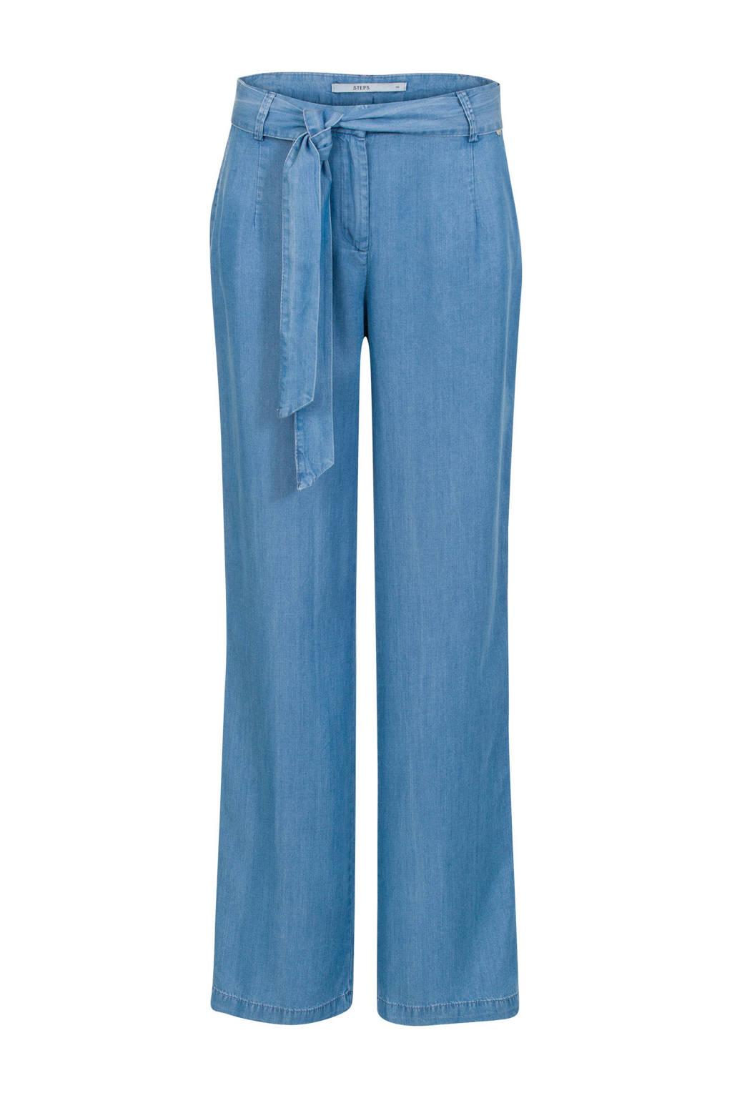 Steps high waist loose fit jeans, Light denim