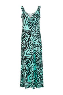 Regulier jurk met all over print turquoise